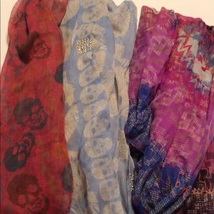 Lot of 3 Women's Scarfs